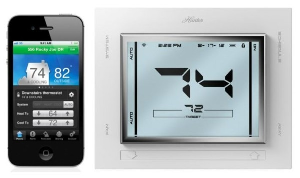 Hunter Iphone Controllable Universal Internet Thermostat Costs