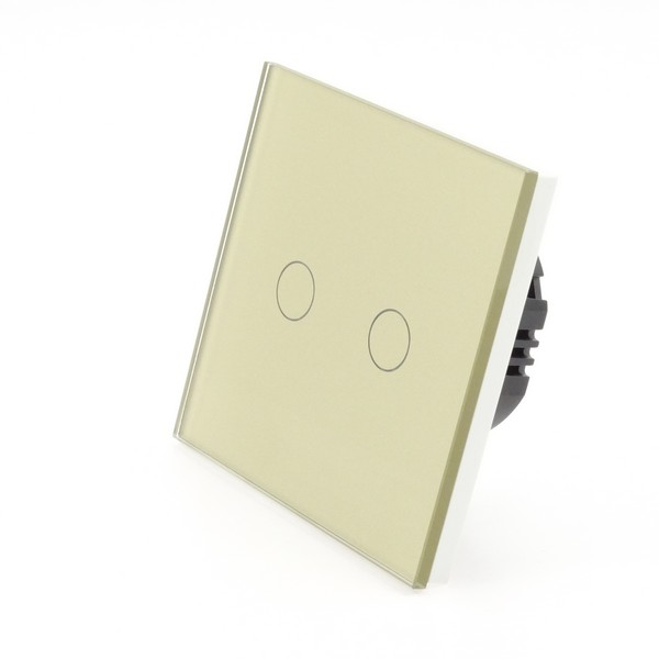 I Lumos Luxury Gold Glass Panel Led Dimmer Touch Light Switches