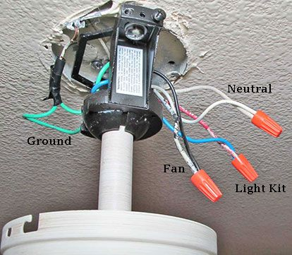 Installing A Ceiling Fan Where A Light Fixture Exists Great