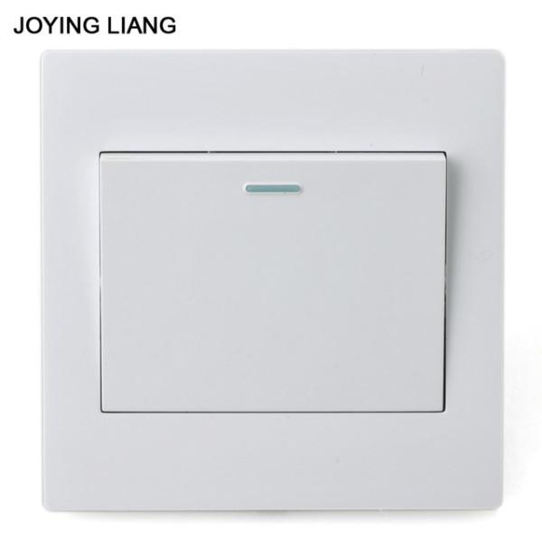 Joying Liang Classic White 86mm One Gang Two Way Rocker Switch