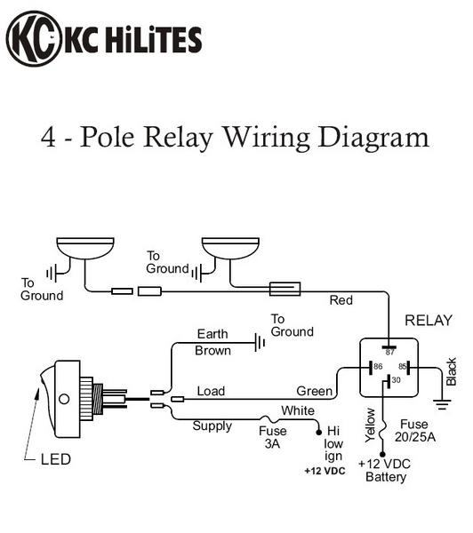 Kc Wiring Diagram - Wiring Diagram Name on bosch automotive light relay, kc 3300 relay interchange, kc driving lights wiring, kc hilites relay diagram, 12 volt light relay,