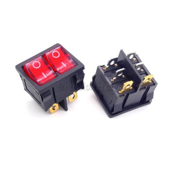 Kcd5 21x24mm 21 24mm With Red Light Rocker Switches Two Way Switch