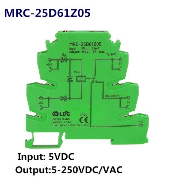 Mrc 25d61z05 6a 5v Dc Output Amplifier Plc Module Relay Switch