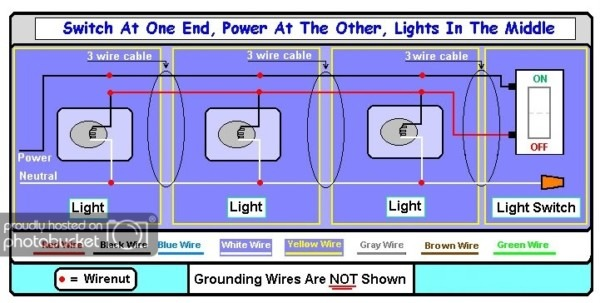 Need Diagram  Supply Power To Multiple Lights With Switch At The