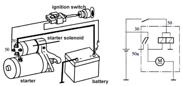 Non Relay Controlled Starting System Wiring Diagram Starter Wiring