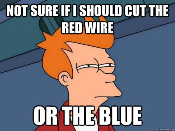 Not Sure If I Should Cut The Red Wire Or The Blue