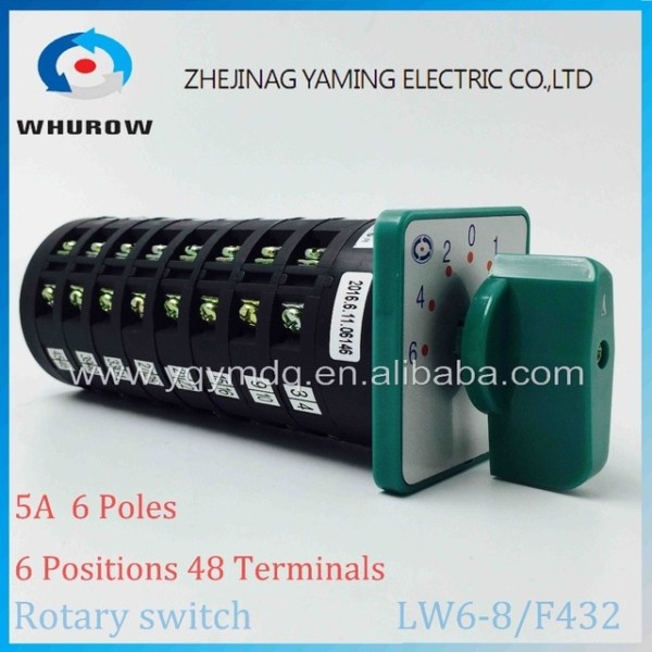 Rotary Switch 6 Positions Lw6 8 F432 Green Changeover Cam