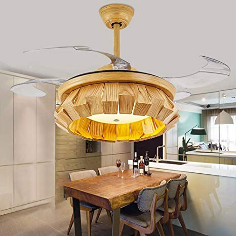 Rs Lighting Wood Put Together Invisible Blades Ceiling Fan For