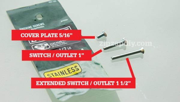 Standard Electrical Outlet Screw Sizes Explained   Zipzapdiy