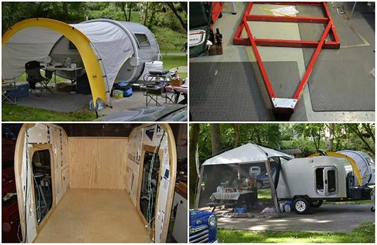 The Diy Plans Are For A Small Teardrop Travel Trailer That Can Be