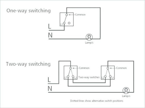 Two Switches To One Light Dual Switch Light Wiring Diagram Wire