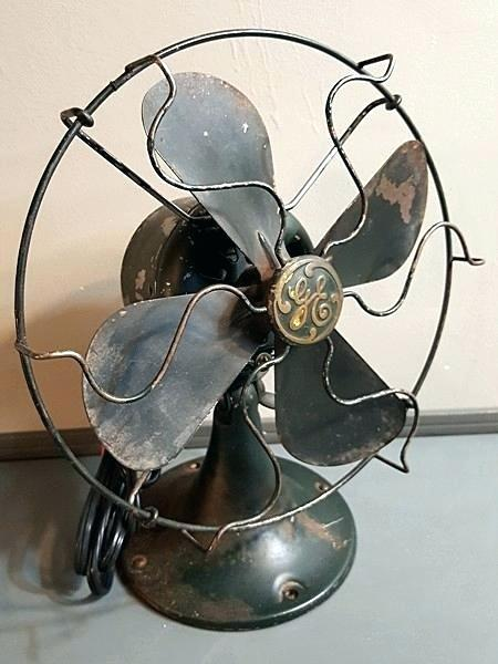 Vintage Wall Fan Green Fan 8 S Wire Grill Electric Antique Non