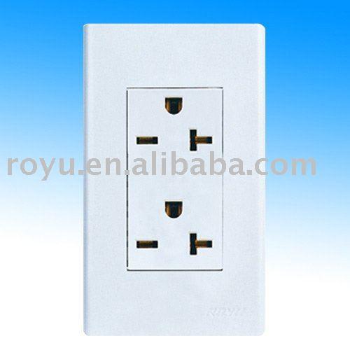 Wall Socket 220v,two Way Universal Multi Plug Sockets,20a 220v