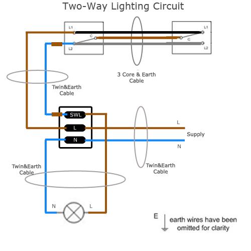 Way Lighting Circuit 2 Way Switch Wiring