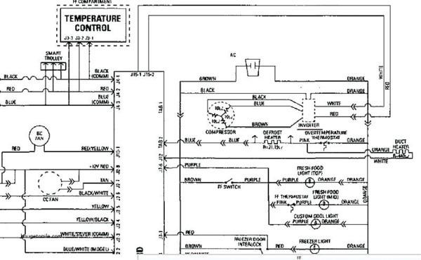 Whirlpool Refrigerator Diagram Whirlpool Fridge Wiring Diagram