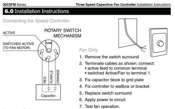 Wiring A Fan Switch Diagram Extractor Fan Wiring Colours 8 Wire