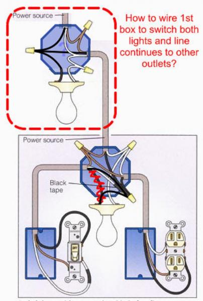 Wiring A Light Then Switch