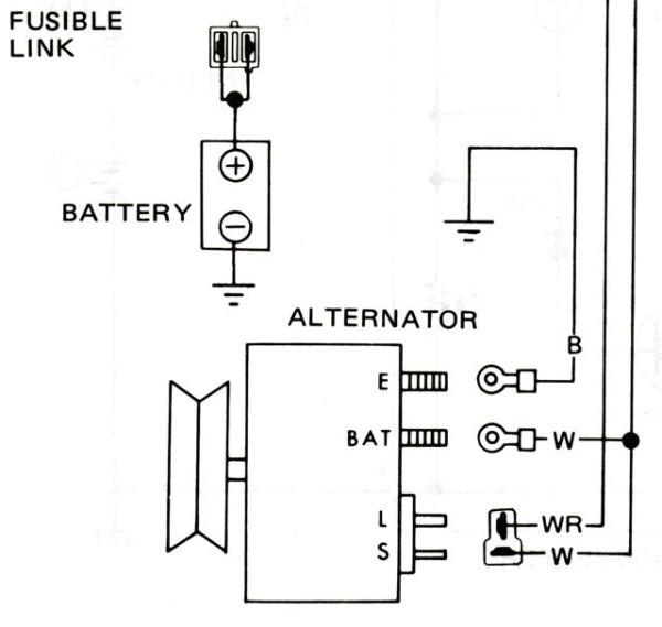 Peachy Nissan Alternator Wiring Basic Electronics Wiring Diagram Wiring Digital Resources Inklcompassionincorg