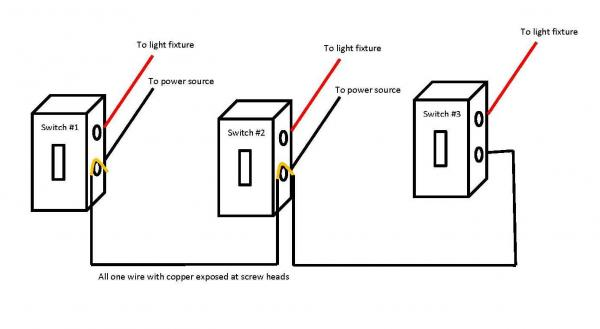 Wiring Diagram Two Light Switches One Power Source  How To Install