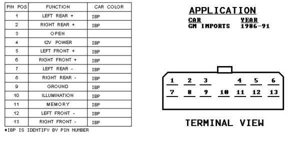 2002 Chevy Cavalier Radio Wiring Harness Diagram on