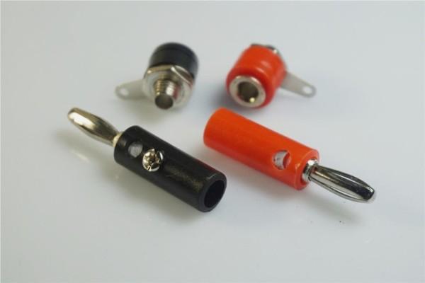 100 Pcs 4 0 Mm Socket   Plug Connector Screw Wiring Terminal Test