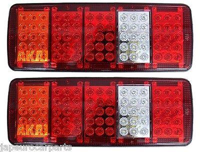 12v Led Rear Stop Back Tail Reverse Light Truck Lorry Trailer