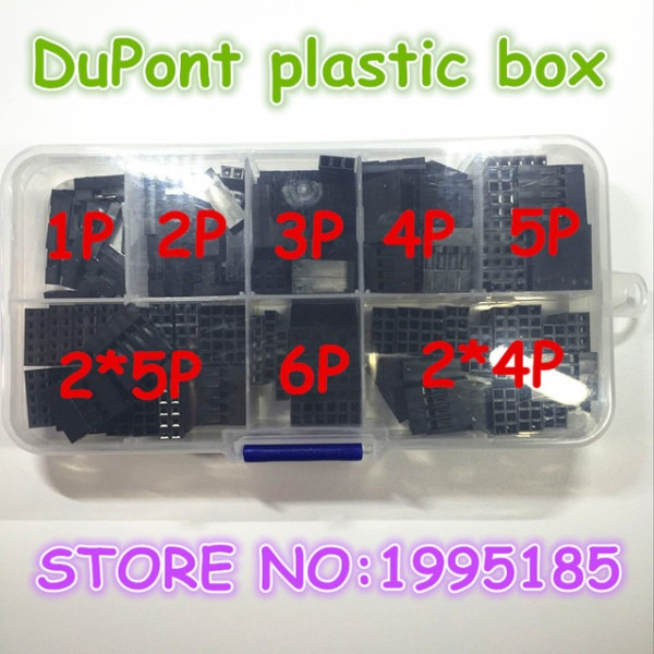 150pcs 2 54mm Plastic Dupont Jumper Wire Kit With Box 1p 2p 3p 4p