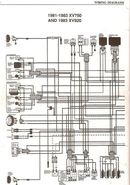 1982 Yamaha Virago 920 Wiring Diagram Further Yamaha Virago 750