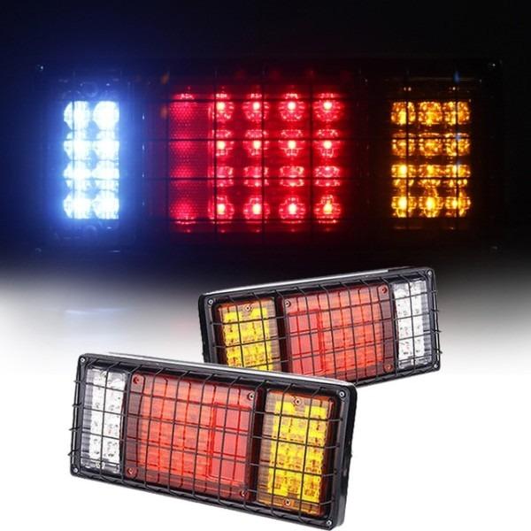 1pair Trailer Lights 12v Waterproof Led Stop Rear Tail Running