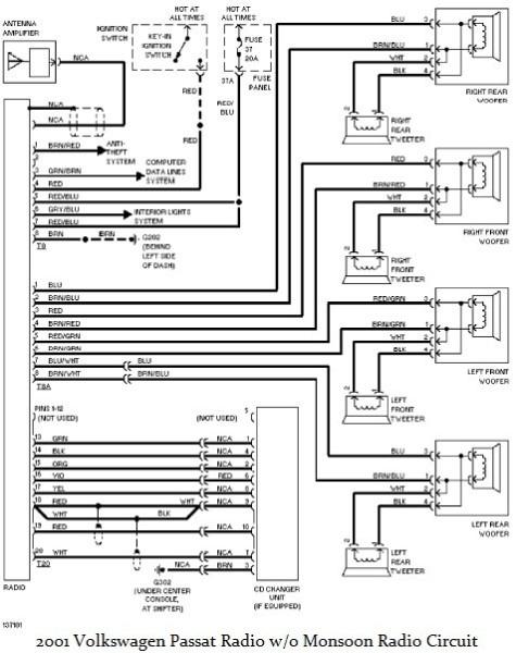 2000 vw passat radio wiring diagram