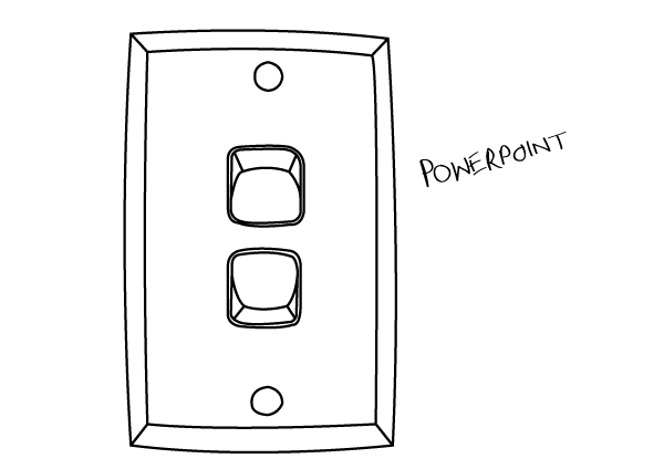 20 Line Drawing Of Everyday Objects  Lightswitch