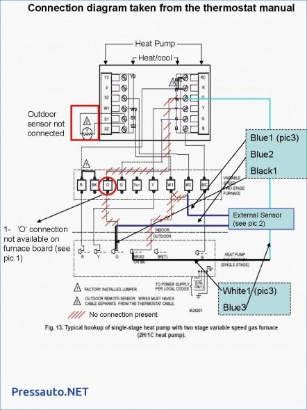 2 Stage Furnace Thermostat Wiring Diagram