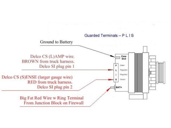 2wire Gm Alternator Diagram