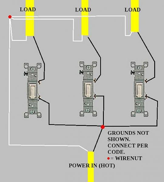 3 Gang Switch Wiring Diagram from www.chanish.org