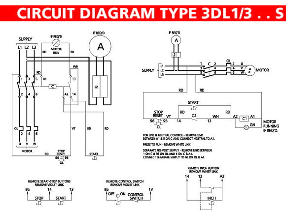 Single Phase Magnetic Starter Wiring Diagram