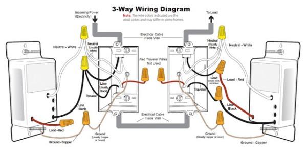 3 Ways Dimmer Switch Wiring Diagram