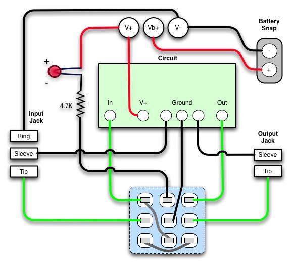 3pdt True Bypass Wiring Diagram