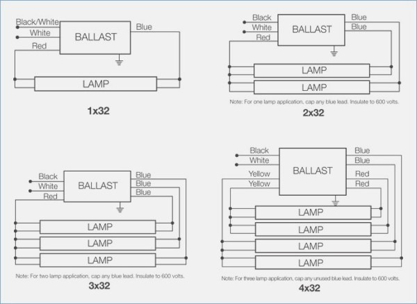 4 Lamp T5 Ballast Wiring Diagram