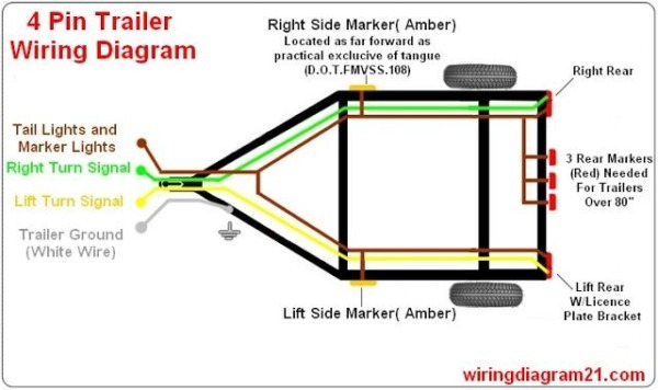4 Prong Wiring Harness
