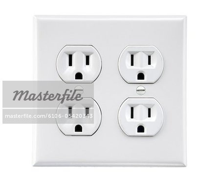 4 Socket Electric Wall Outlet