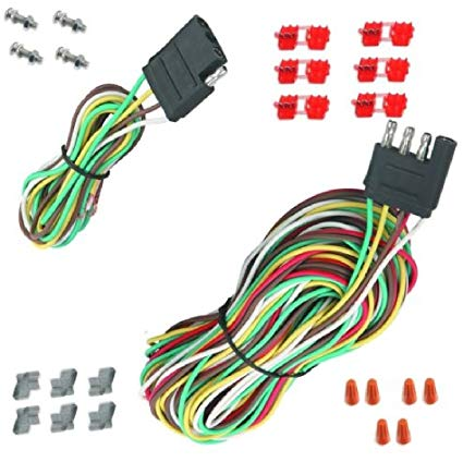 Amazon Com  25' 4 Way Trailer Wiring Connection Kit Flat Wire