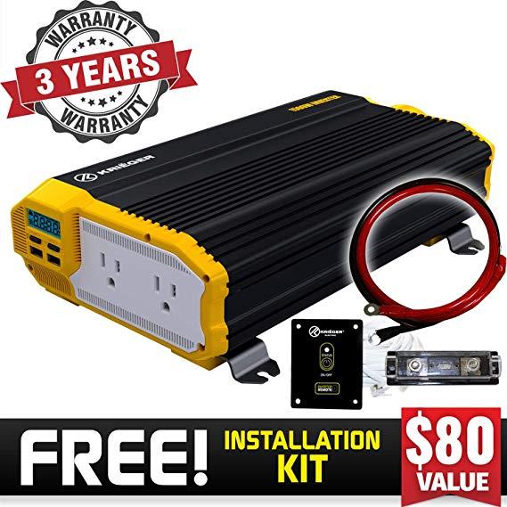 Amazon Com  KriËger 1100 Watt 12v Power Inverter Dual 110v Ac