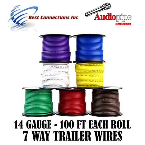 Amazon Com  Trailer Light Cable Wiring For Harness 100ft Spools 14