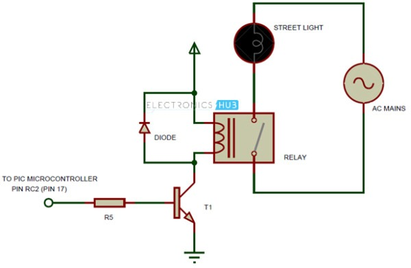 Auto Intensity Control Of Street Lights Circuit Using Microcontroller