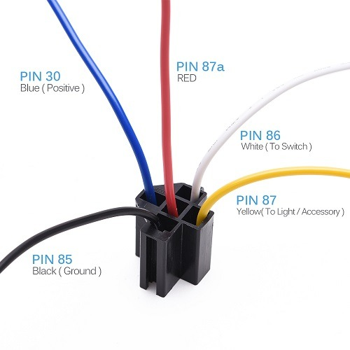 How To Hook Up A 5 Pin Relay