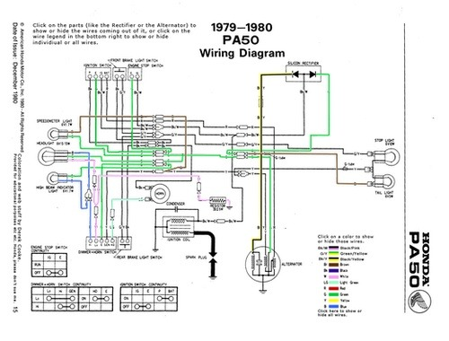 Awesome Interactive Diagram Of The Honda Hobbit   Pa50 Wiring