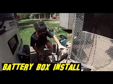 Battery Box And Harbor Freight Solar Controller Installation