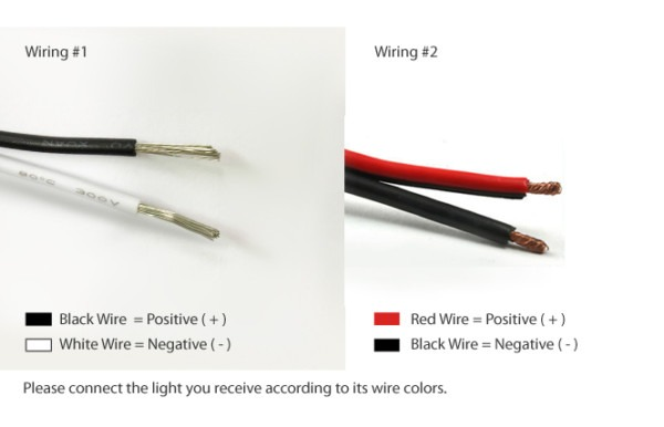 Black And White Wires Which Is Positive