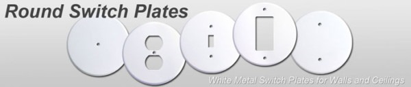 Ceiling Outlet Covers For Round Electrical Box, Circular Wall Plates