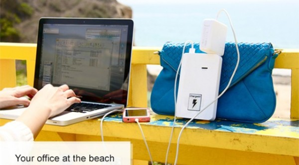Chargeall  A Portable Battery Pack With A 120v Ac Wall Plug Outlet